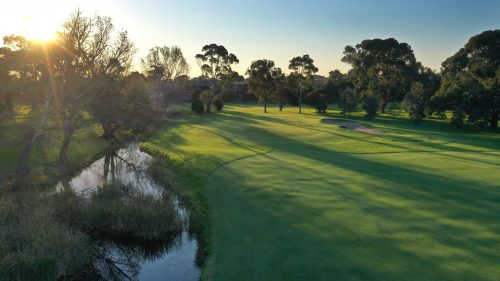 Rossdale Hole 13 443m Green