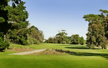 Rossdale Hole 18 385m Tee Shot