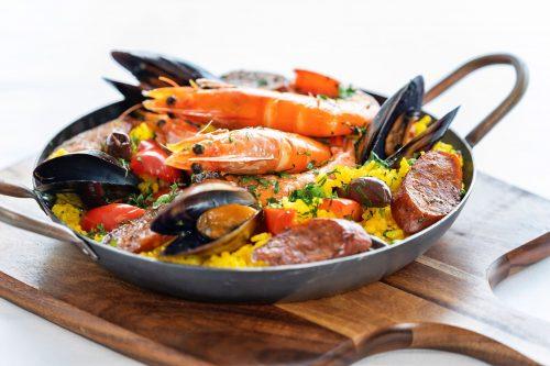 Rossdale Golf Club - Bistro menu   Seafood Paella